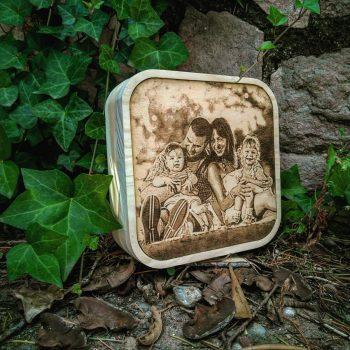 foto grabada en madera